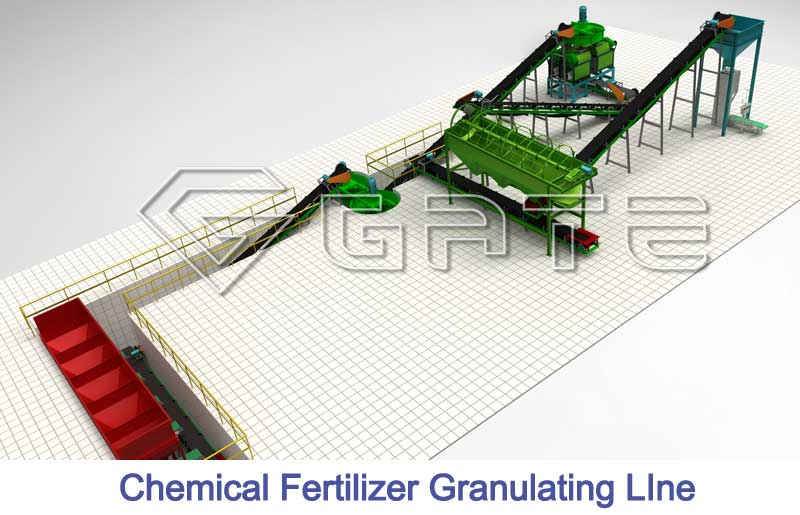 double roller granulation production line for sale,chemical fertilizer line factory