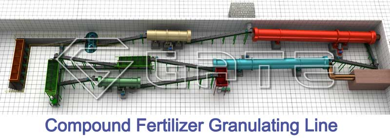 compound fertilizer granulation line,