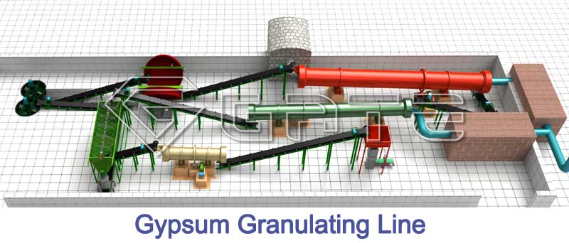gypsum granulation line factory