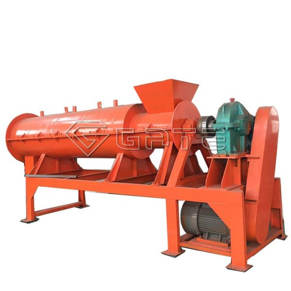 How does the organic fertilizer granulator work?