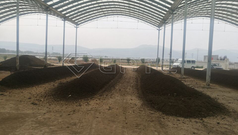 compost turner machinery for fertilizer