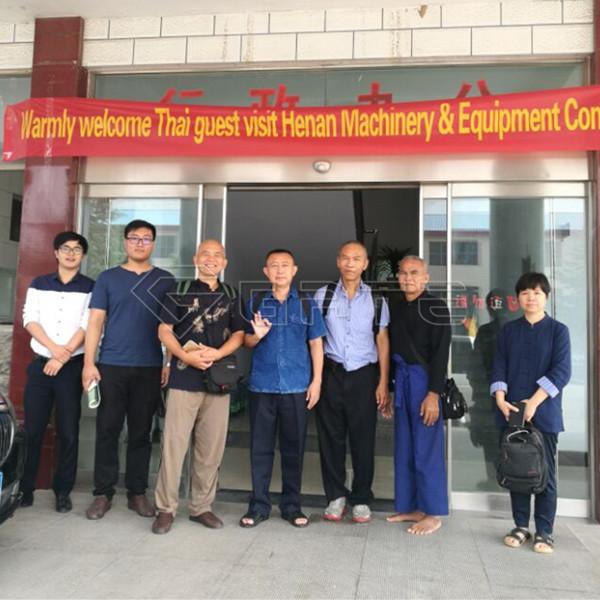 Warmly welcome Thailand customers to visit GATE organic fertilizer machine factory Manfacturer