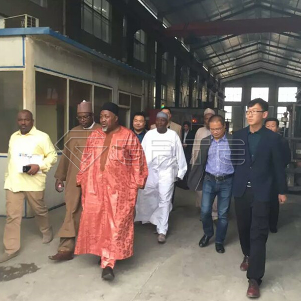 Africa customers visit GATE organic fertilizer production line manufacturing plant