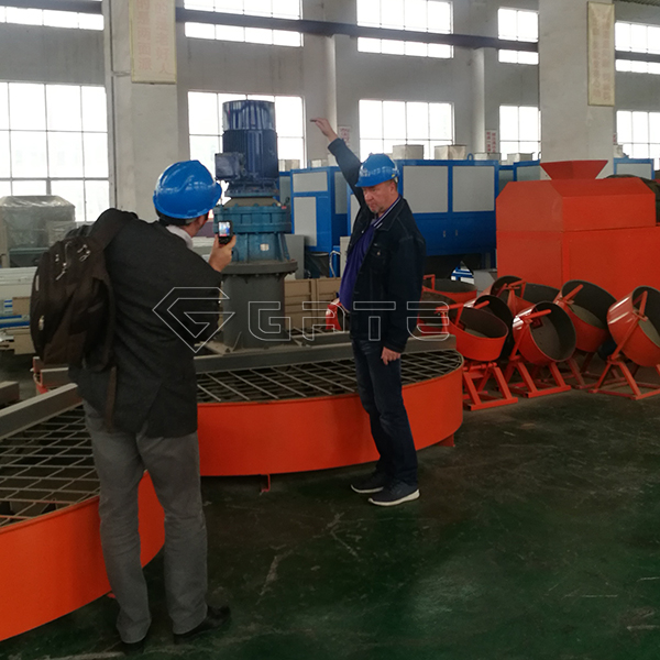 Australian Customers Ordered disk fertilizer mixer machine for NPK fertilizer production line