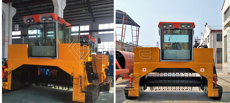 GATE Crawler Type Compost Turner for organic fertilizer shipped for Indonesia's customer