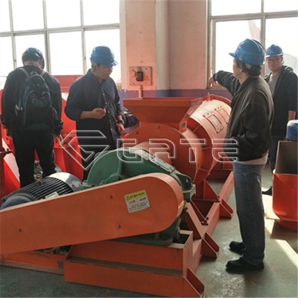 Thai customers come to buy organic fertilizer stirrer granulator