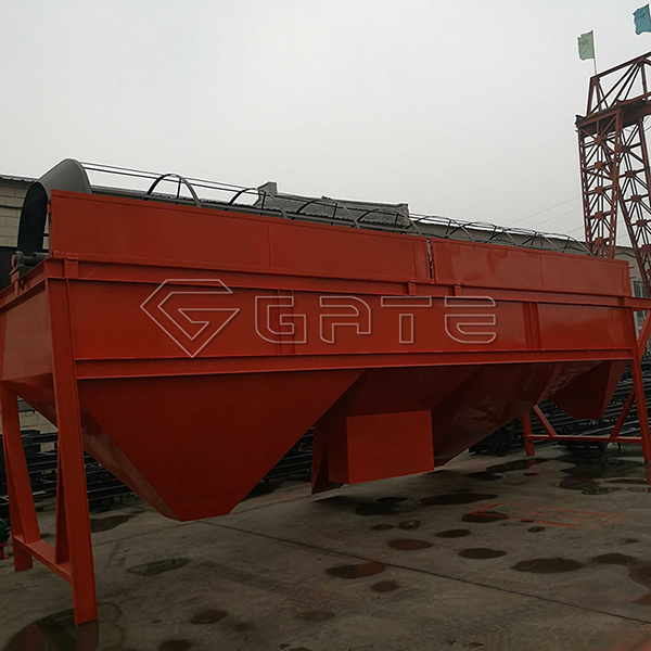 Myanmar customer visit GATE factory for Rotary trommel drum screen sieving machine for fertilizer Manfacturer