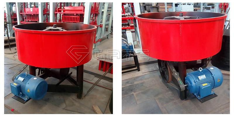 Small footprint mixer vertical type mixer fertilizer