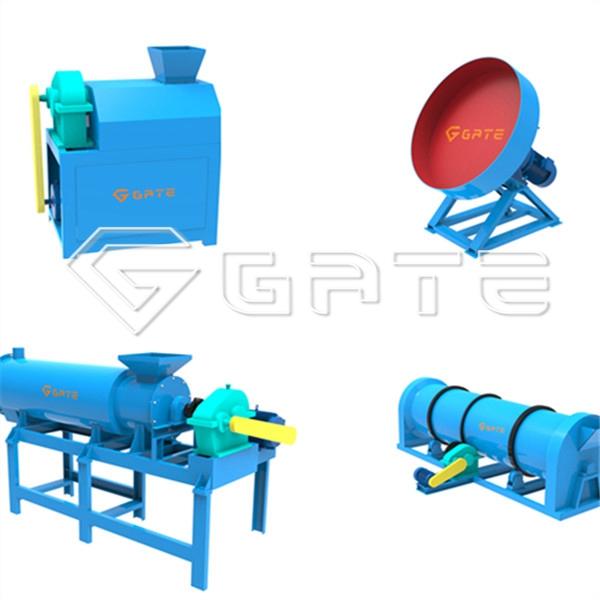 What are the granulators in the organic fertilizer manufacturing machine?