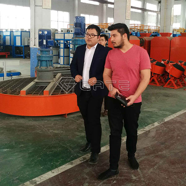 Uzbekistan Customer's Visiting for 5 Tons Per Hour Capacity Organic Fertilizer Plant Line