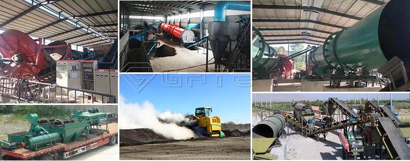 Chicken manure organic fertilizer production line process