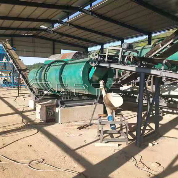 Advantages of GATE small chicken manure organic fertilizer production lines