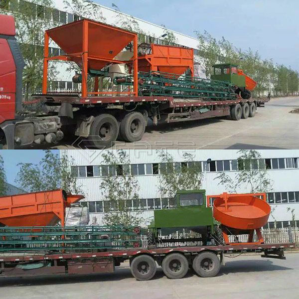 Organic fertilizer production line delivery site for India customer