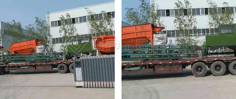 Organic fertilizer production line delivery site
