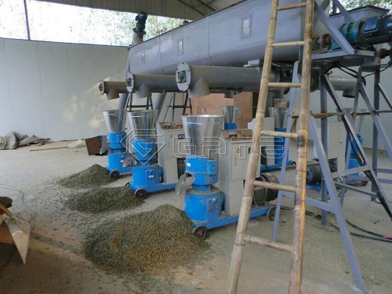 Flat die pellet mill fertilizer granulator for sale