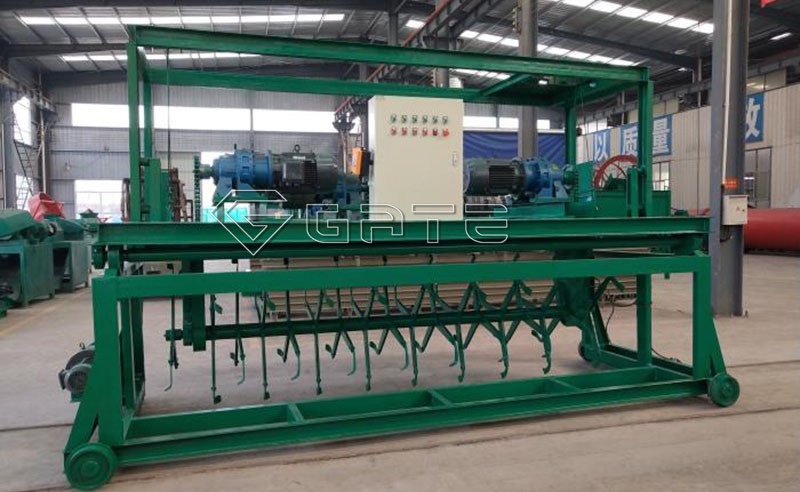 Groove type windrow compost turner machine for fertilizer Manufacturer