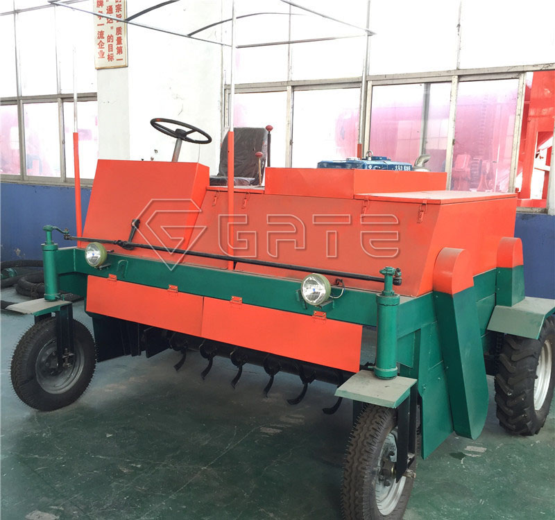 Organic Fertilizer Towable Wheel Type Compost Windrow Turner Machine for Sale