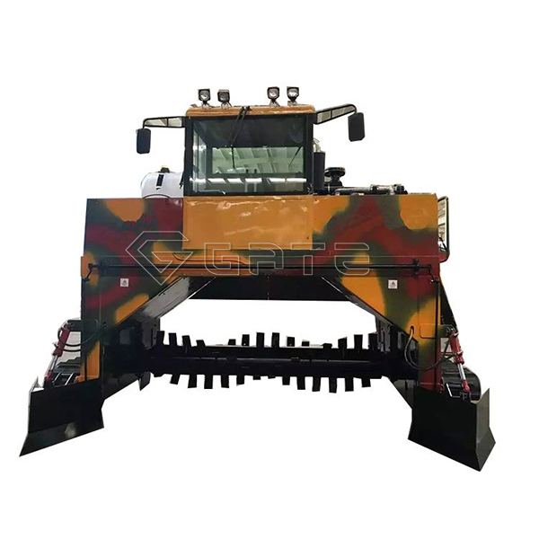 Organic fertilizer windrow compost turner price