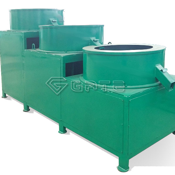 What are the performance characteristics of the organic fertilizer throwing machine?