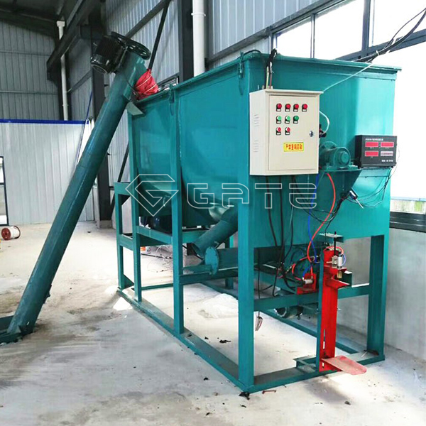 Horizontal fertilizer mixer structure overview