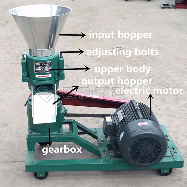 What are the advanced properties of the Gate flat die fertilizer granulator?